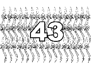 43 Squids coloring page
