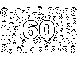 60 Lady Bugs coloring page