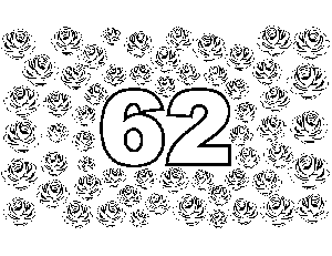 62 Roses coloring page