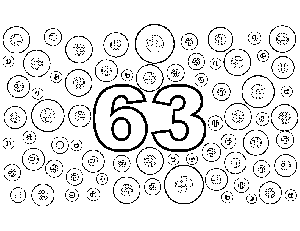 63 Buttons coloring page