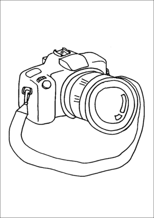 Camera And Lens coloring page