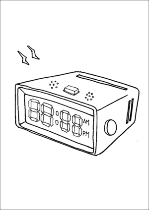 Clock Radio coloring page