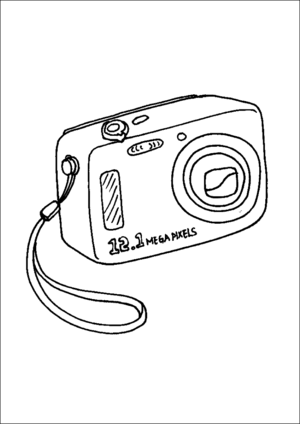 Digital Camera Coloring Page