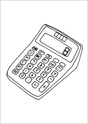 Electronic Calculator coloring page