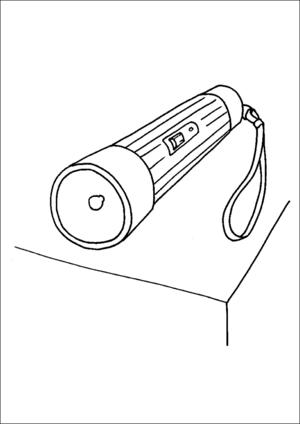 Flashlight coloring page
