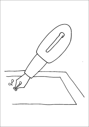 Fountain Pen coloring page