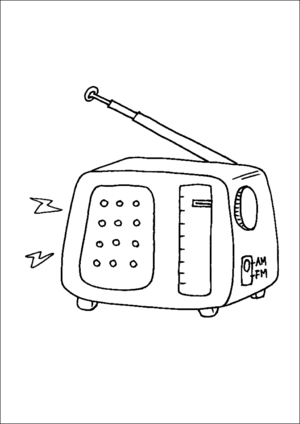 Old Time Radio coloring page