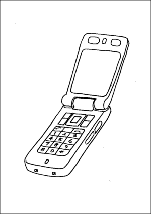 Open Cell Phone coloring page
