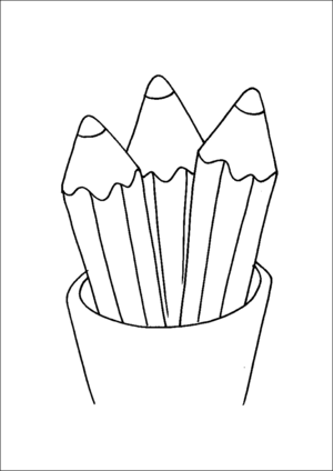 Pencils In Cup coloring page