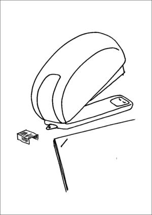 Stapler And Staples coloring page