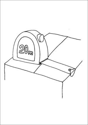 Tape Measure On Box coloring page