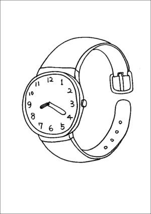 Wristwatch coloring page