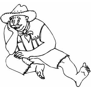 Bored Man coloring page