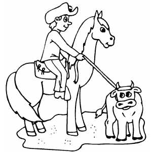 team roping coloring pages - photo#11