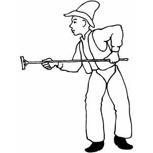 Cowboy With Branding Iron coloring page