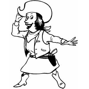 Cowgirl coloring page