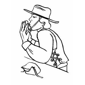Man Kissing Nugget coloring page