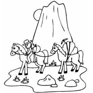 Miners coloring page