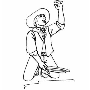 Panning For Gold coloring page