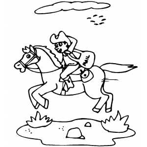 Postal Carrier coloring page