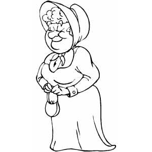 Prairie woman coloring page for Coloring pages for older girls