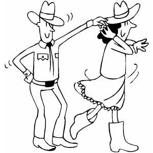 Square Dancing coloring page