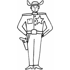 Standing Sheriff Coloring Page