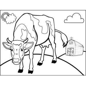 Aggressive Cow coloring page