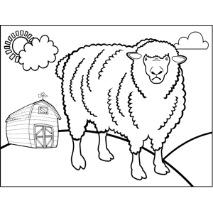 Angry Sheep coloring page
