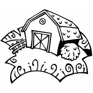 Barn With Round Window coloring page