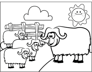 Big Horned Sheep coloring page