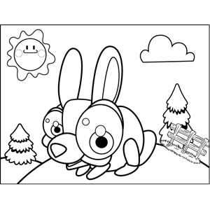 Bug-Eyed Bunny coloring page