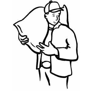 Carrying Sack coloring page