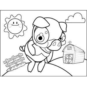 Dancing Pig coloring page