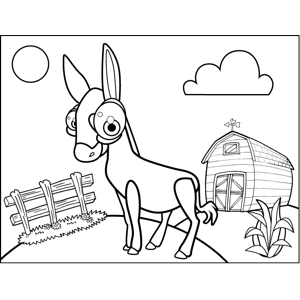 Happy Mule coloring page
