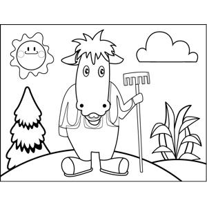 Horse Farmer coloring page