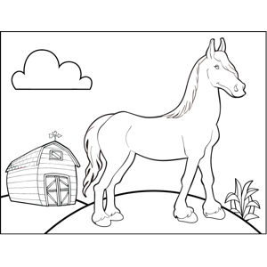 barn dance coloring pages - photo#28