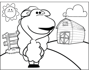 Long-Haired Sheep coloring page