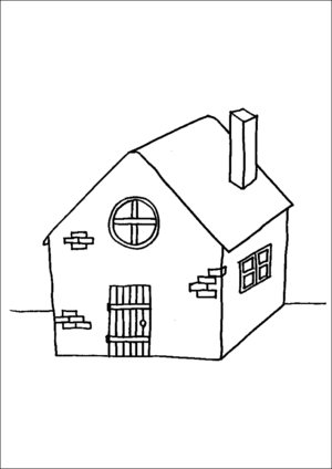 Old Farm House coloring page