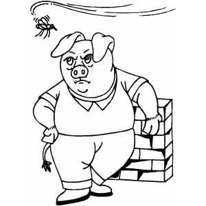 Pig And Annoying Mosquito coloring page