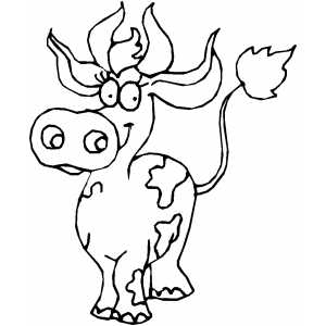 Pretty Cow coloring page