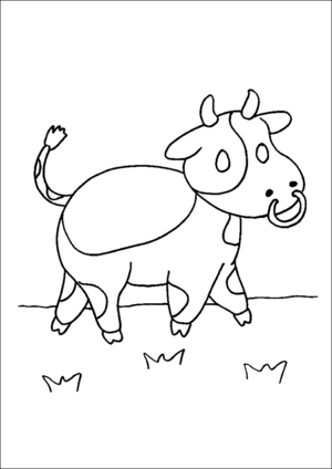 Walking Cow coloring page