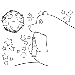 Bear Drinking Soda coloring page