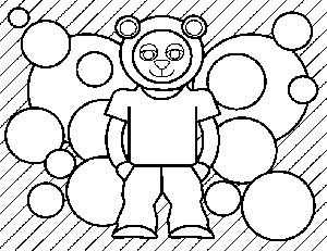 Bear Kid coloring page