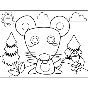 Big Mouse coloring page