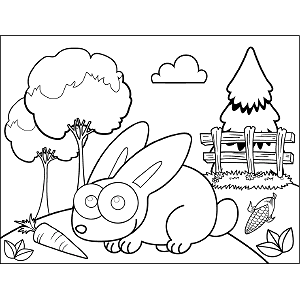 Bunny Rabbit Googly Eyes coloring page