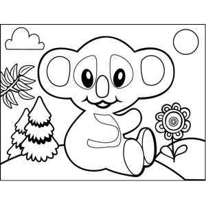Clapping Koala coloring page