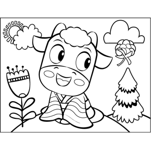 Cow in a Robe coloring page