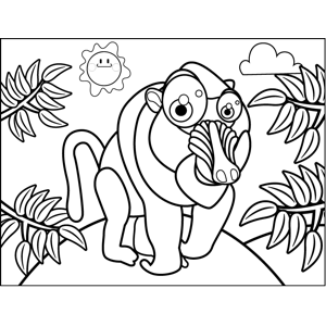 Cute Baboon coloring page
