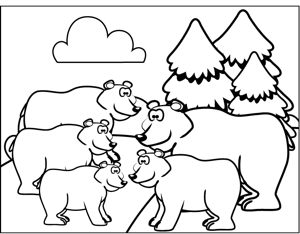 Cute Bears coloring page